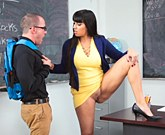 American  professor  Mercedes Carrera  masturbating after her lesson in her classroom