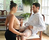 Busty mum Madisin Lee teaches his son how to fuck!