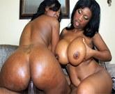 Ebony threesome, or Jessica Grabbit and Maserati XXX share a dick!