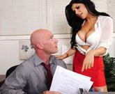 Romi Rain is a hard businesswoman and she is not afraid to use her pussy to get what she wants!