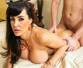 Sexy mom Lisa Ann opens legs for her son's friend