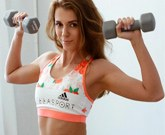 Young Russian girl Mary Kalisy masturbates after fitness